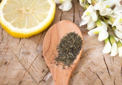 レモンと茶葉